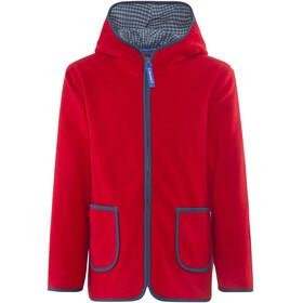 Finkid Tonttu Zip-In Fleece Jacket Kids Red/Denim